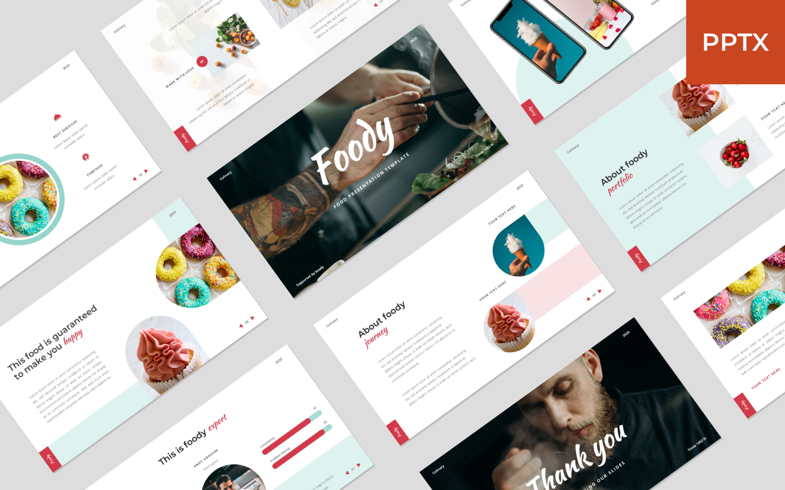 Foody - Food PowerPoint Template