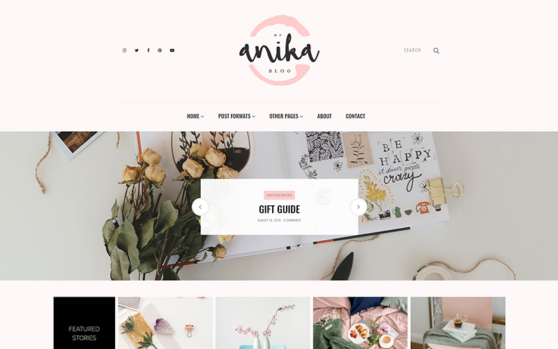 Anika - Feminine Blog WordPress Theme