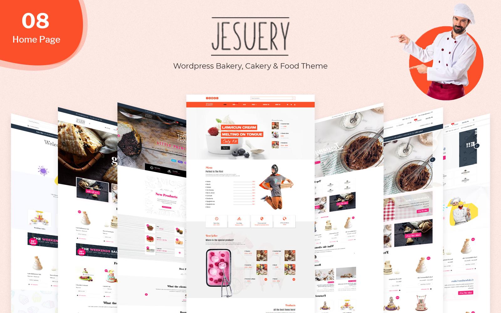 Jesuery - WordPress Bakery, Cakery & Food WooCommerce Theme