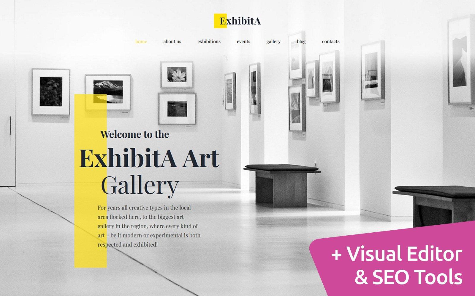 ExhibitA - Art Gallery Moto CMS 3 Template