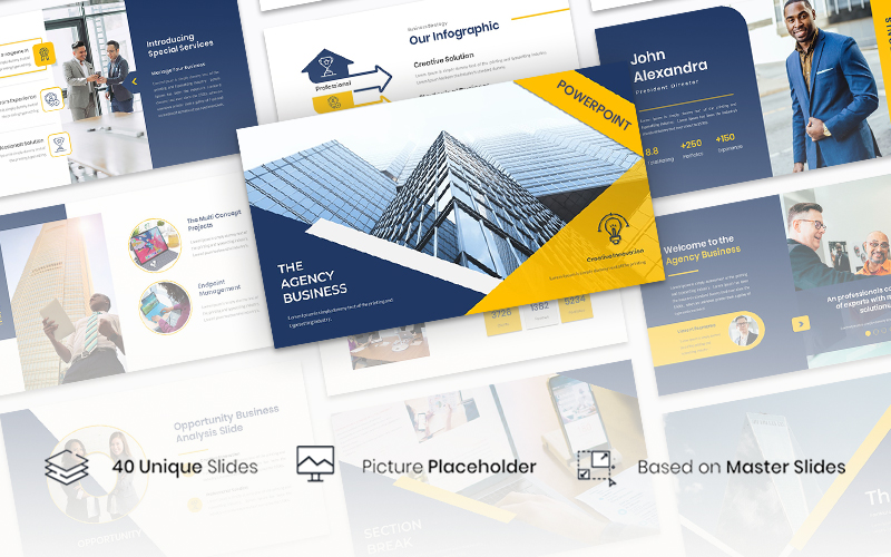 The Agency – Business PowerPoint Template
