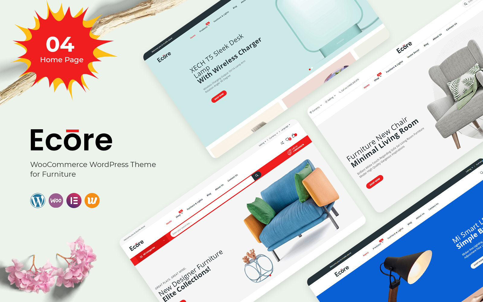 Ecore - Furniture WooCommerce Theme