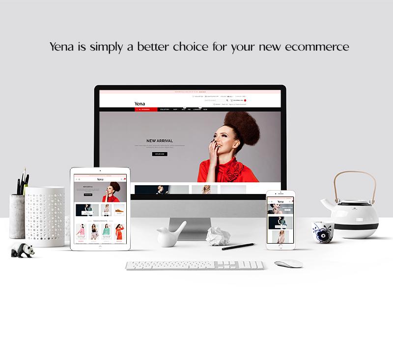 Yena Fashion Store Bootstrap Shopify Theme