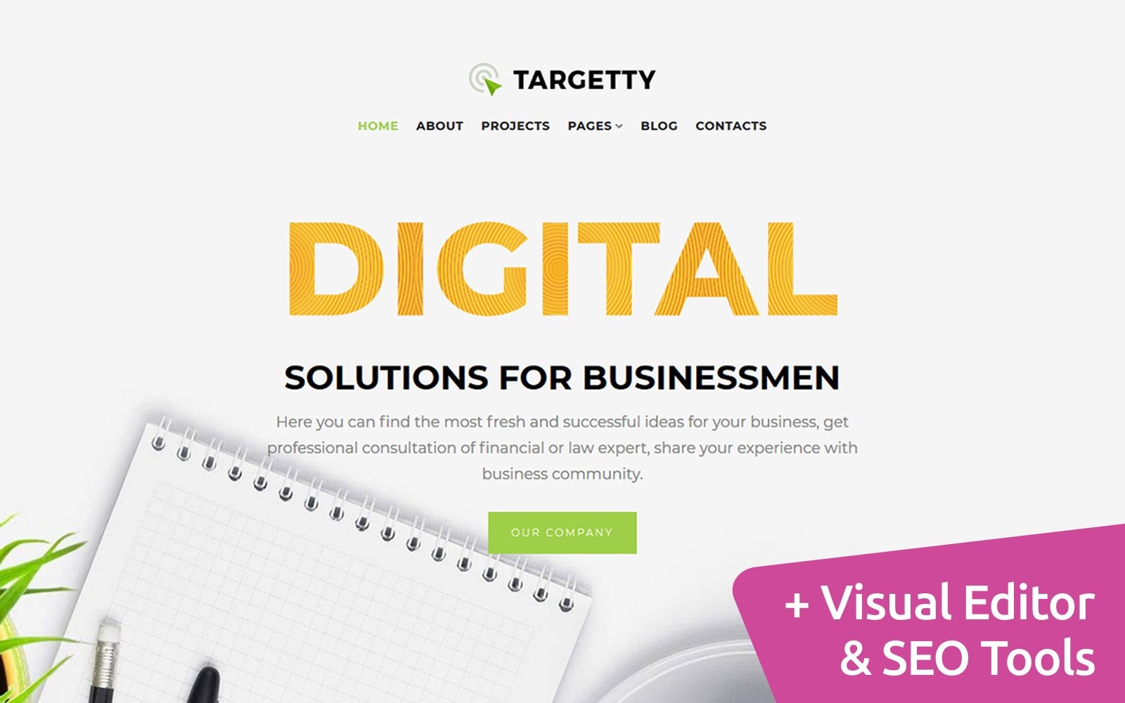 Targetty - Fancy Advertising Agency Moto CMS 3 Template