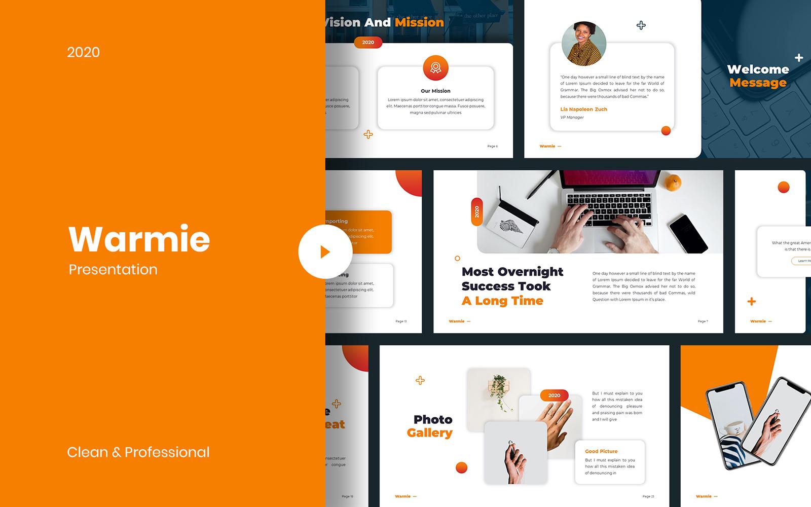 Warmie - Clean PowerPoint Template