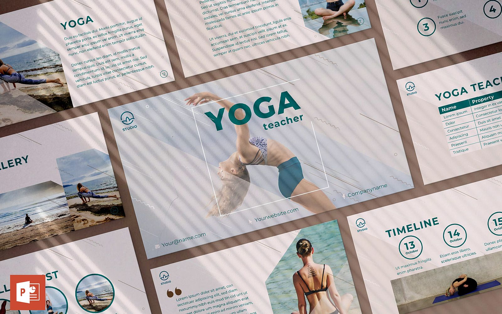Yoga Instructor Presentation PowerPoint template