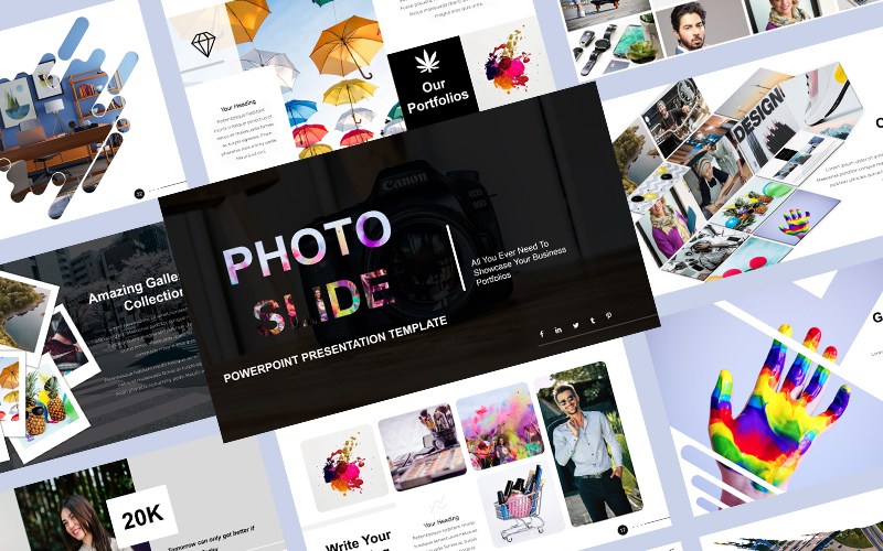Photo Slide PowerPoint template