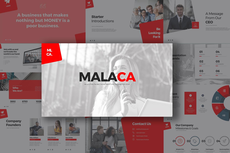 Malaca Presentation PowerPoint Template