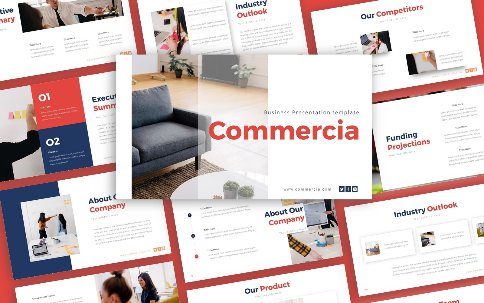 Commercia Business Presentation PowerPoint Template