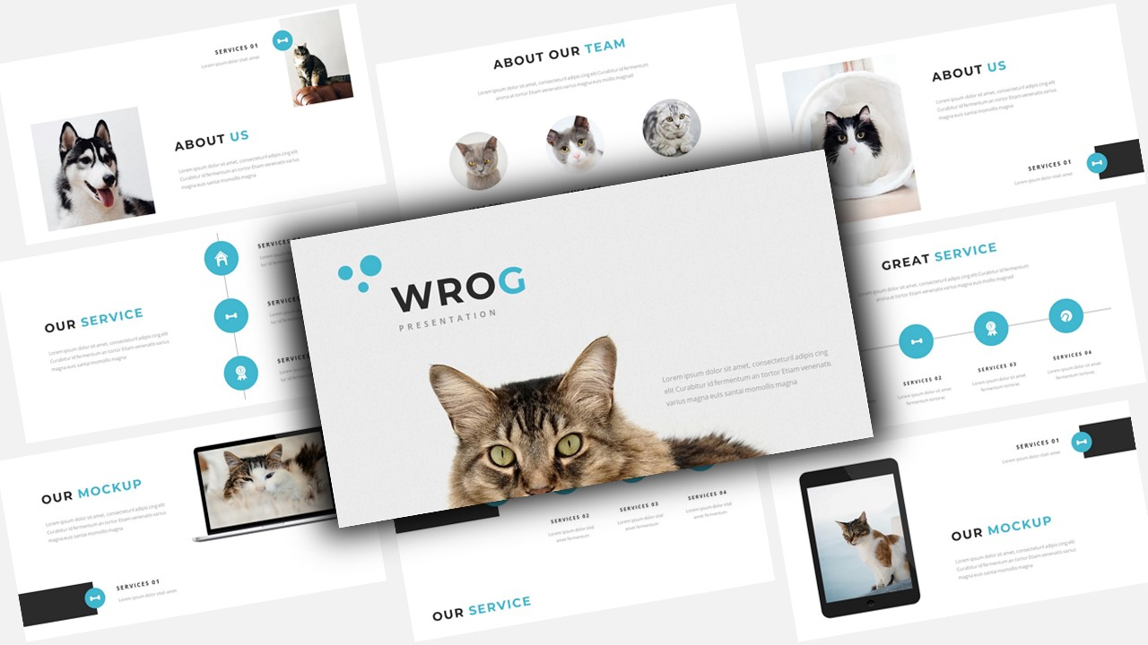 Wrog A Pet Service Presentation PowerPoint Template