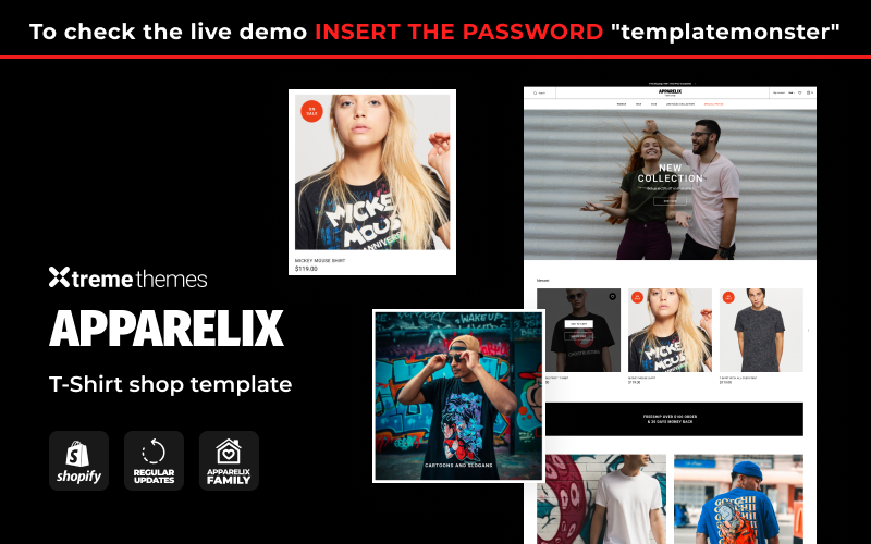 Apparelix T-shirt Store Template Shopify Theme