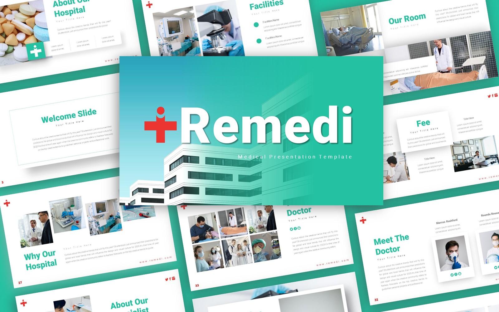 Remedi Medical Presentation PowerPoint template