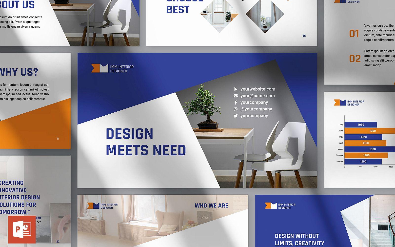 Interior Design Presentation PowerPoint Template