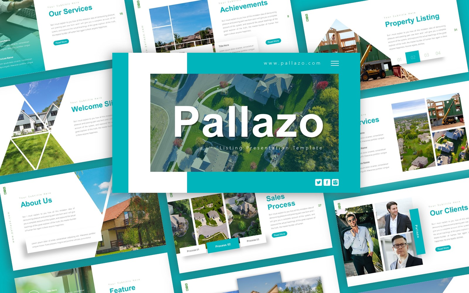 Pallazo Listing Presentation PowerPoint template
