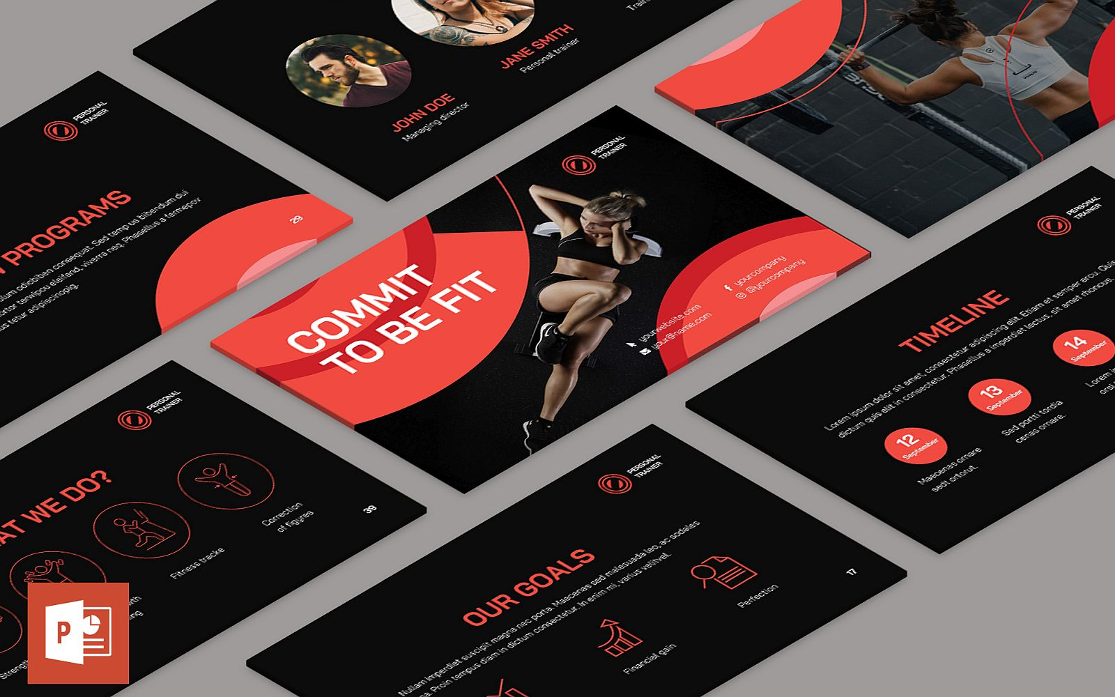 Personal Trainer Presentation PowerPoint Template