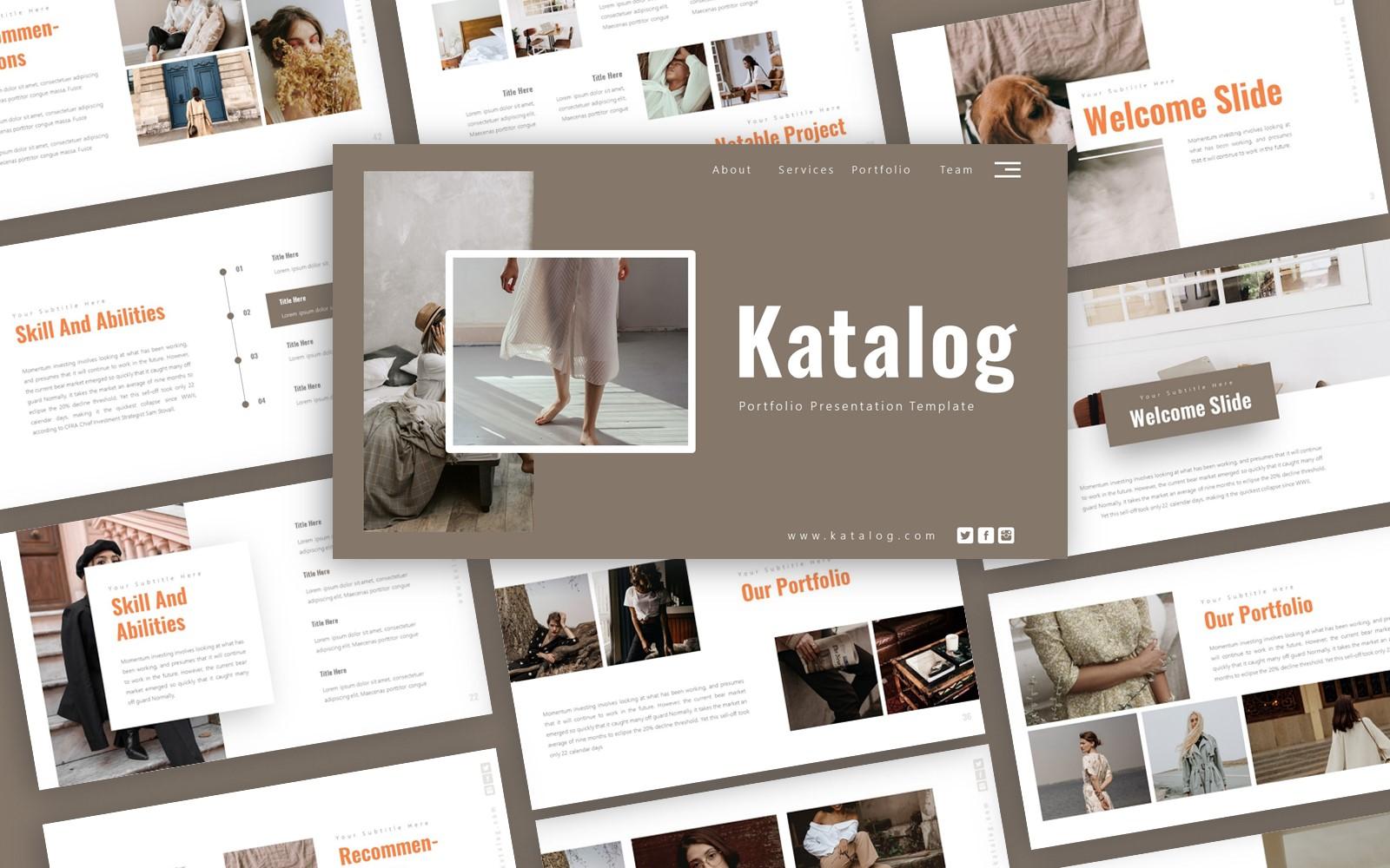 Katalog Portfolio Presentation PowerPoint Template