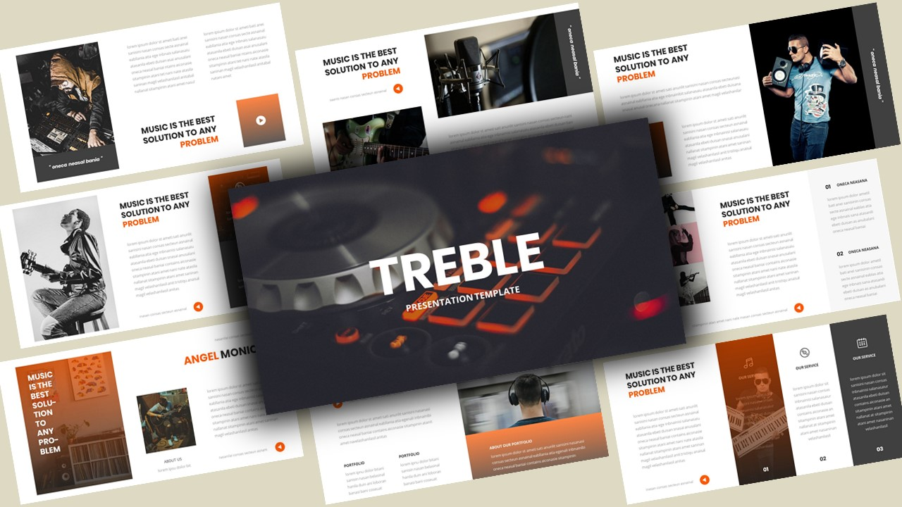 Treble Music PowerPoint Template