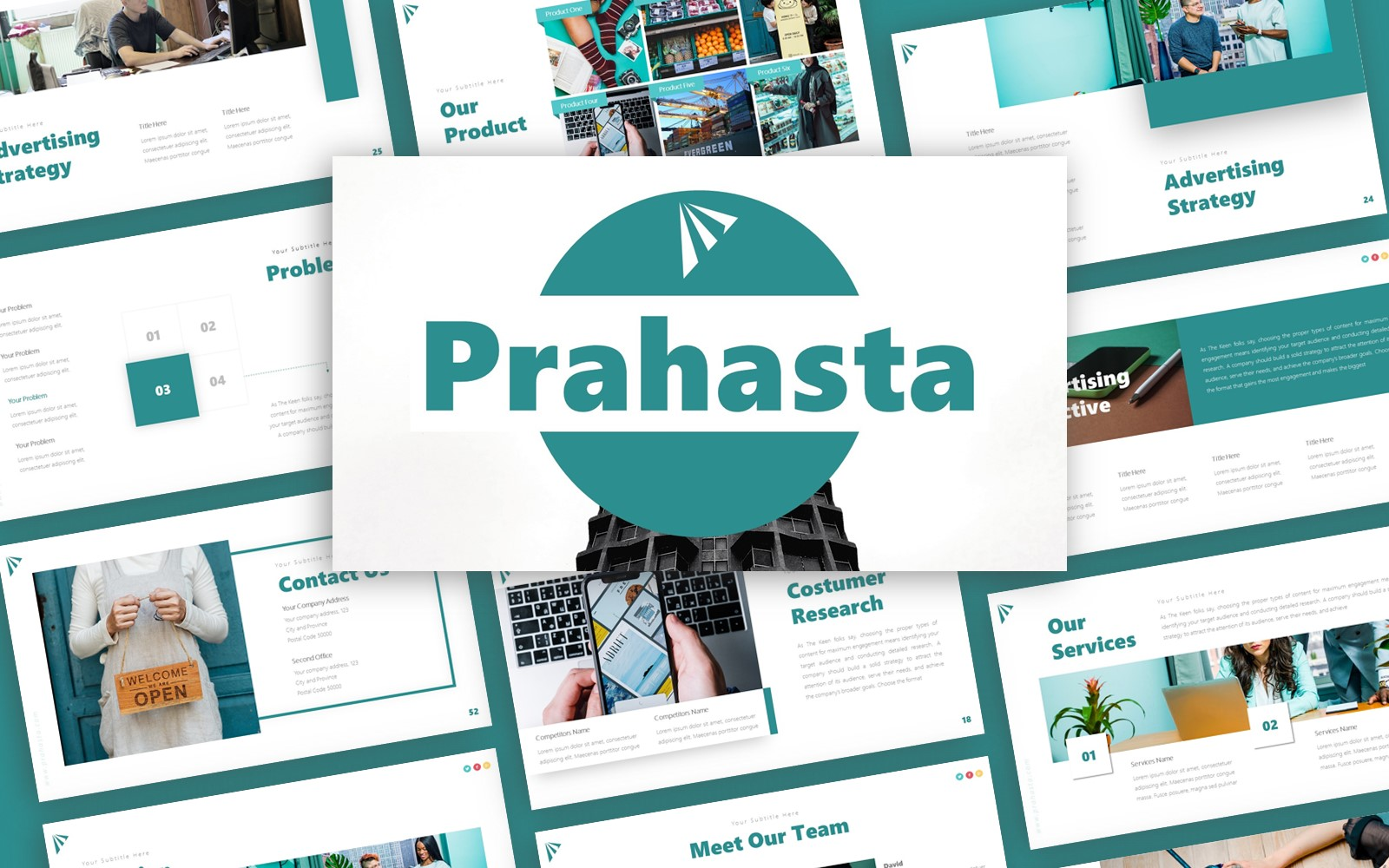Prahasta Advertising Presentation PowerPoint Template