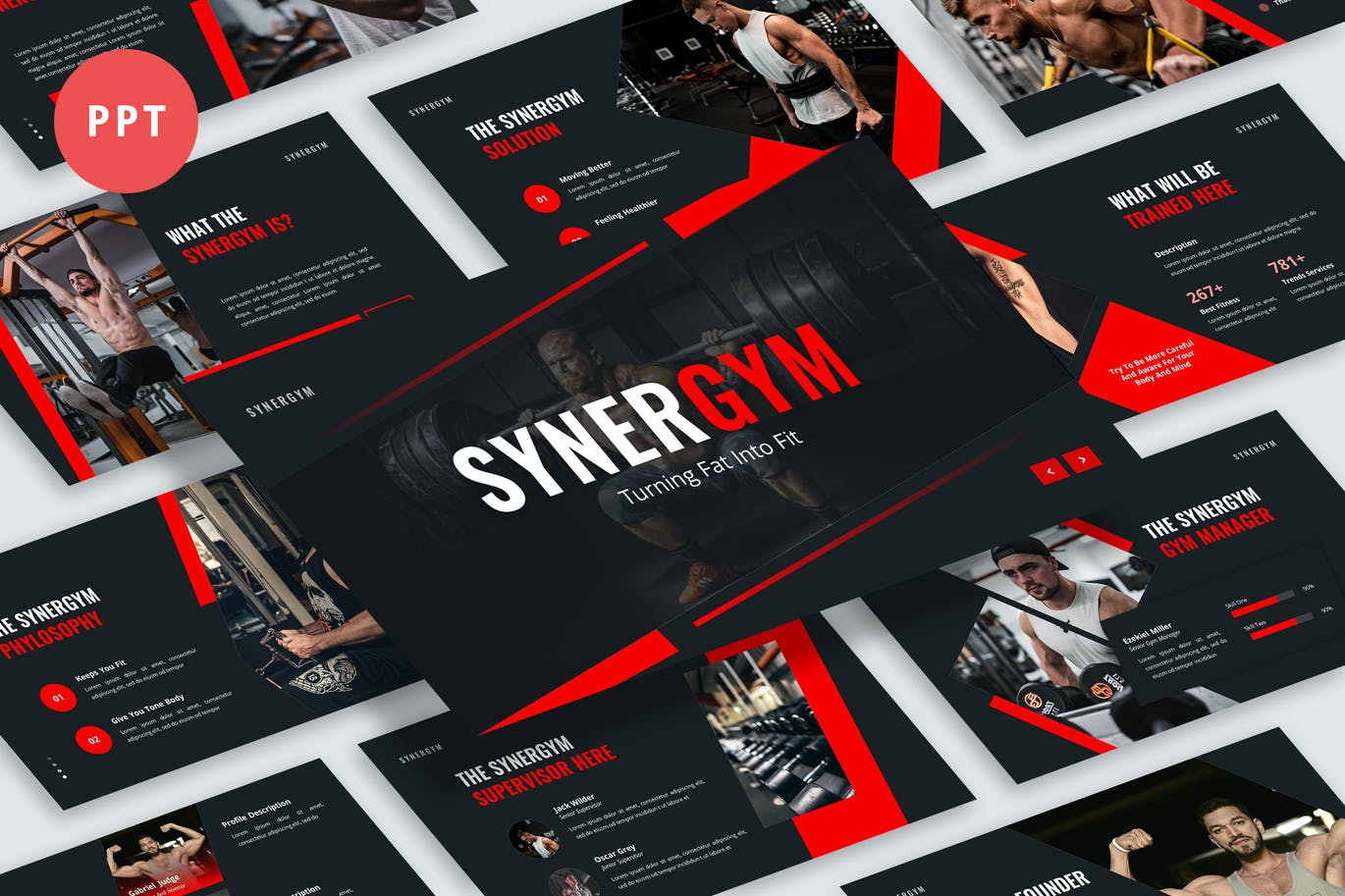 Synergym Presentation PowerPoint Template