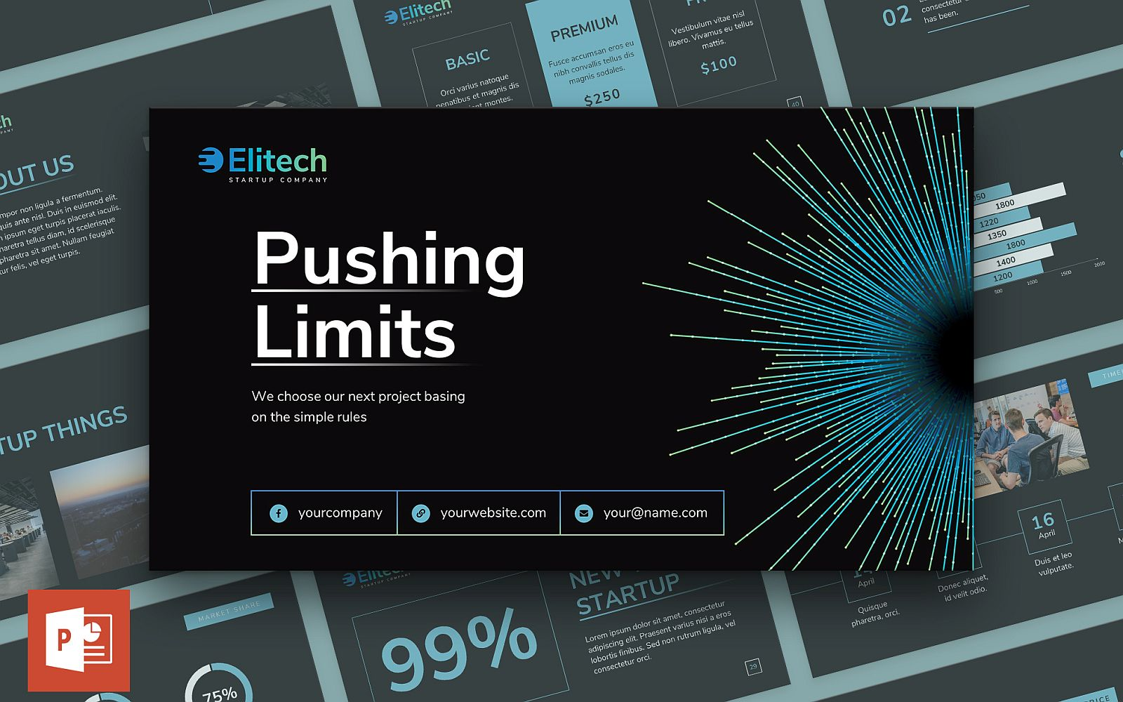 Tech Startup Presentation PowerPoint Template