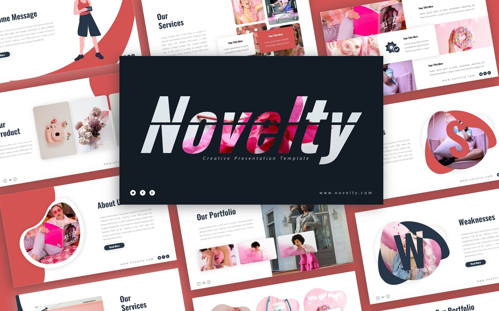 Novelty Creative Presentation PowerPoint Template
