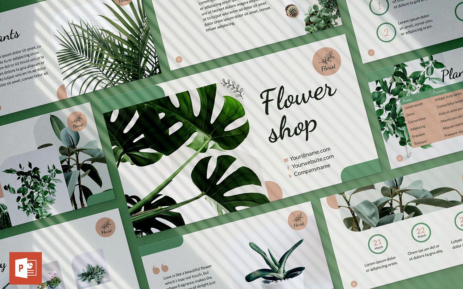 Flower Shop Presentation PowerPoint template