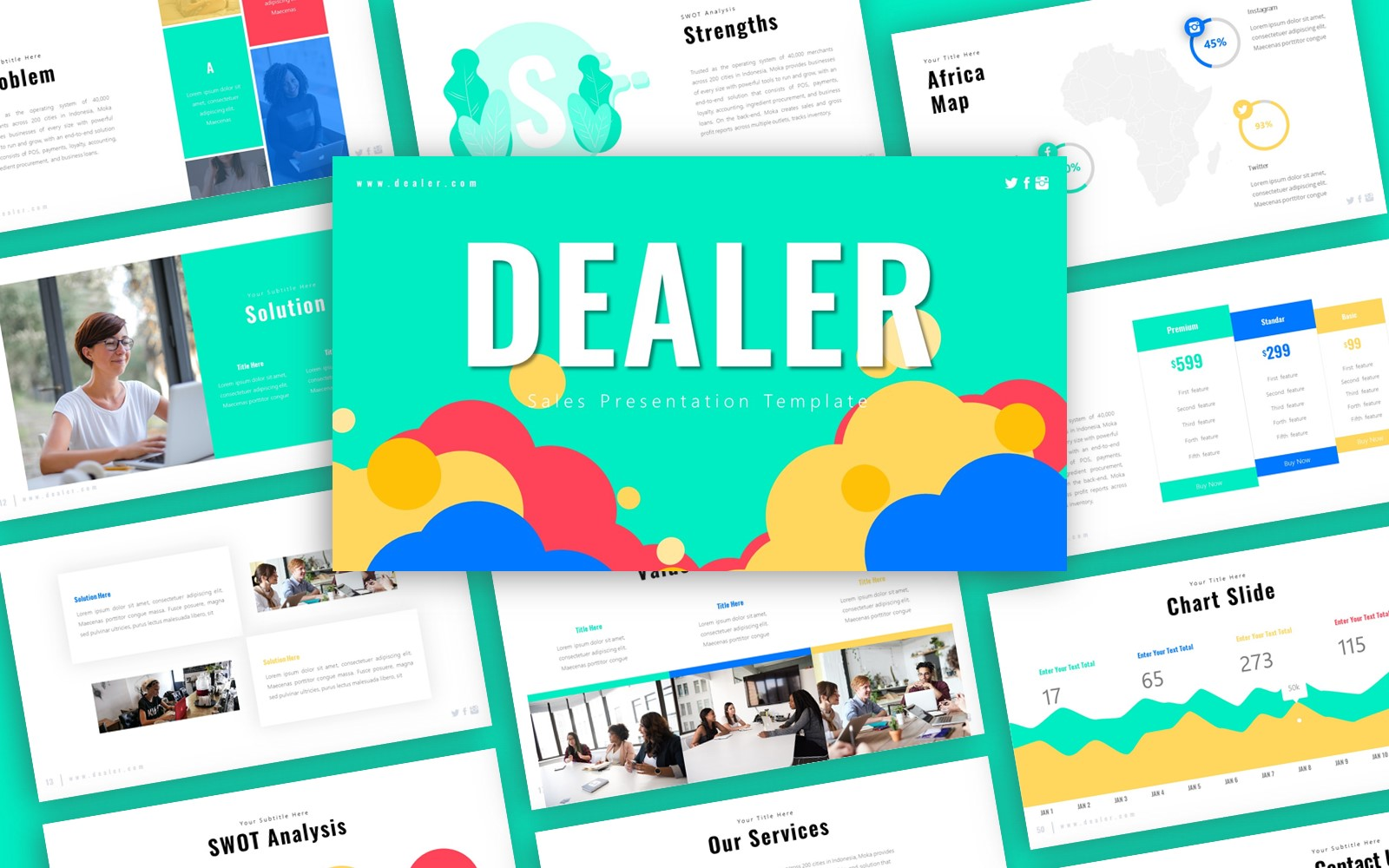 Dealer Sales Presentation PowerPoint Template