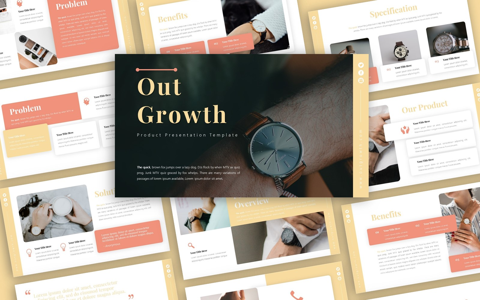Outgrowth Product Presentation PowerPoint Template