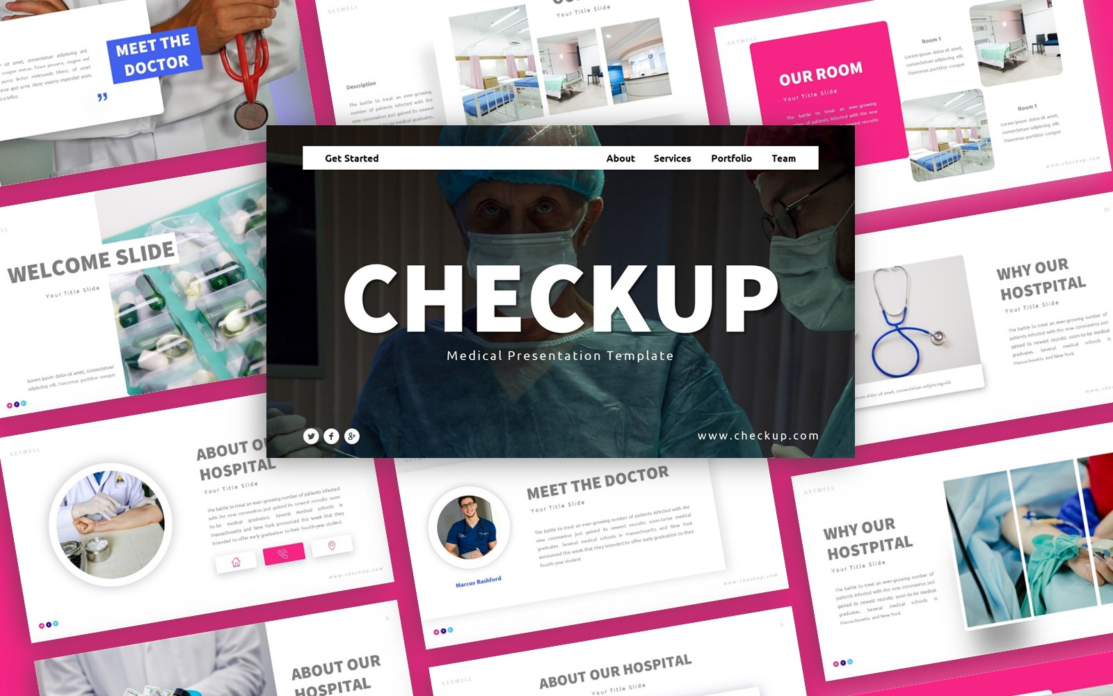 Checkup Medical Presentation PowerPoint Template