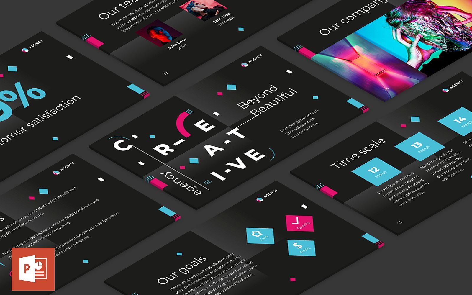 Creative Agency Presentation PowerPoint Template