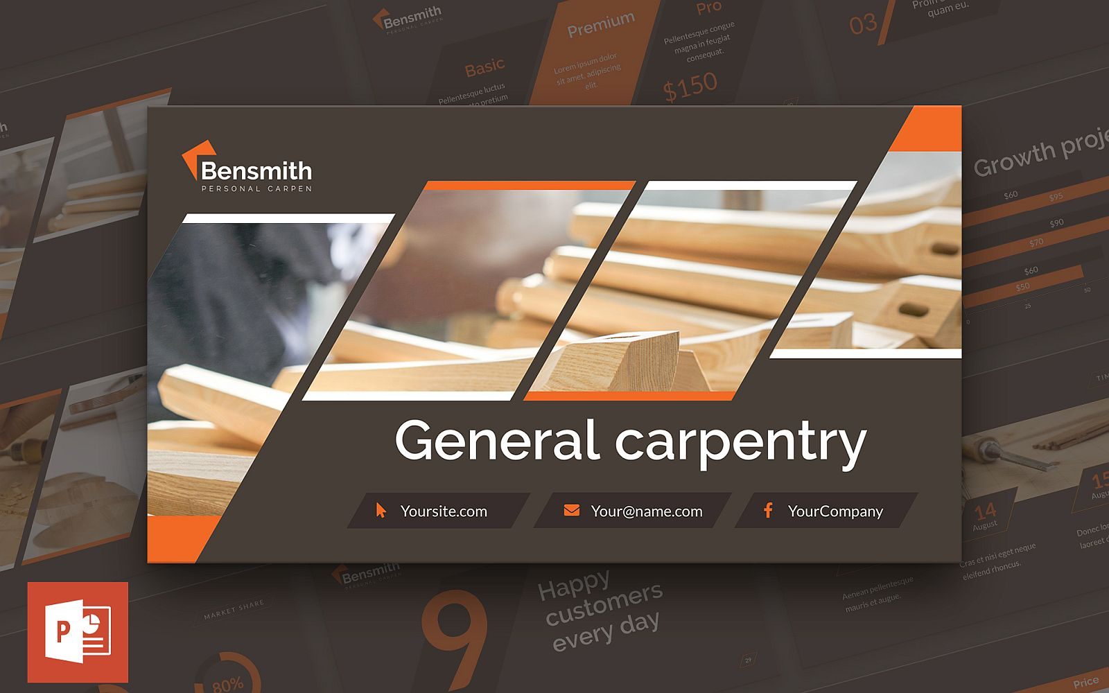 Carpenter Presentation PowerPoint Template