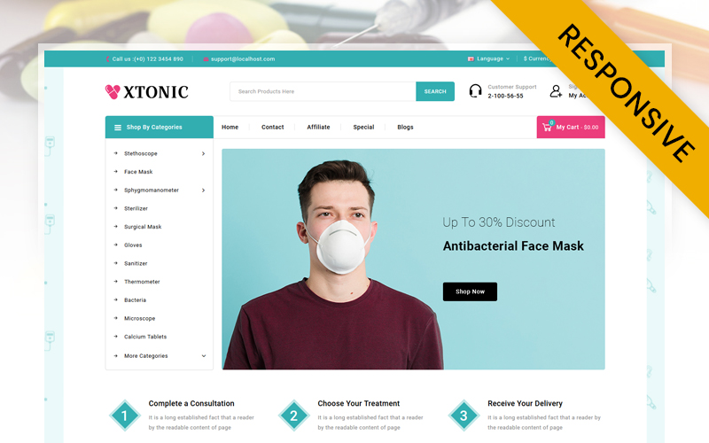 Xtonic - Medical Store OpenCart Template