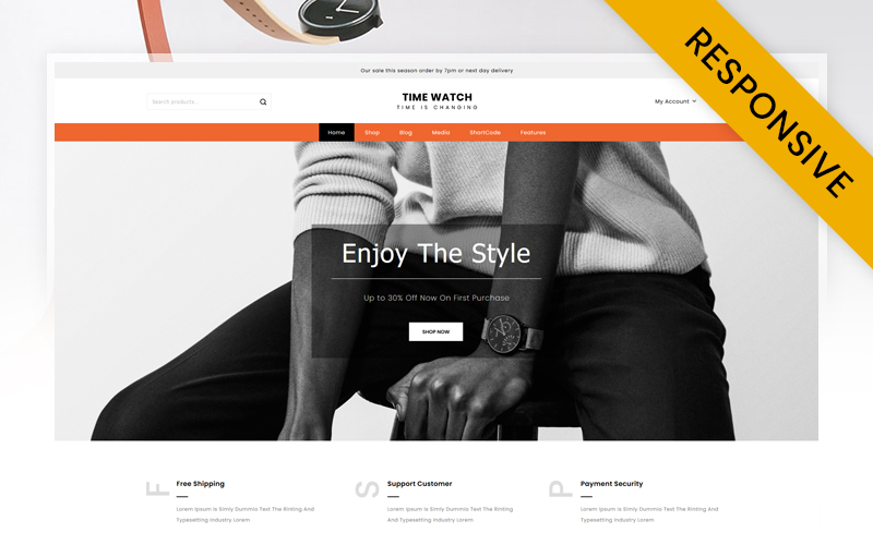 Time Watch Store WooCommerce Theme