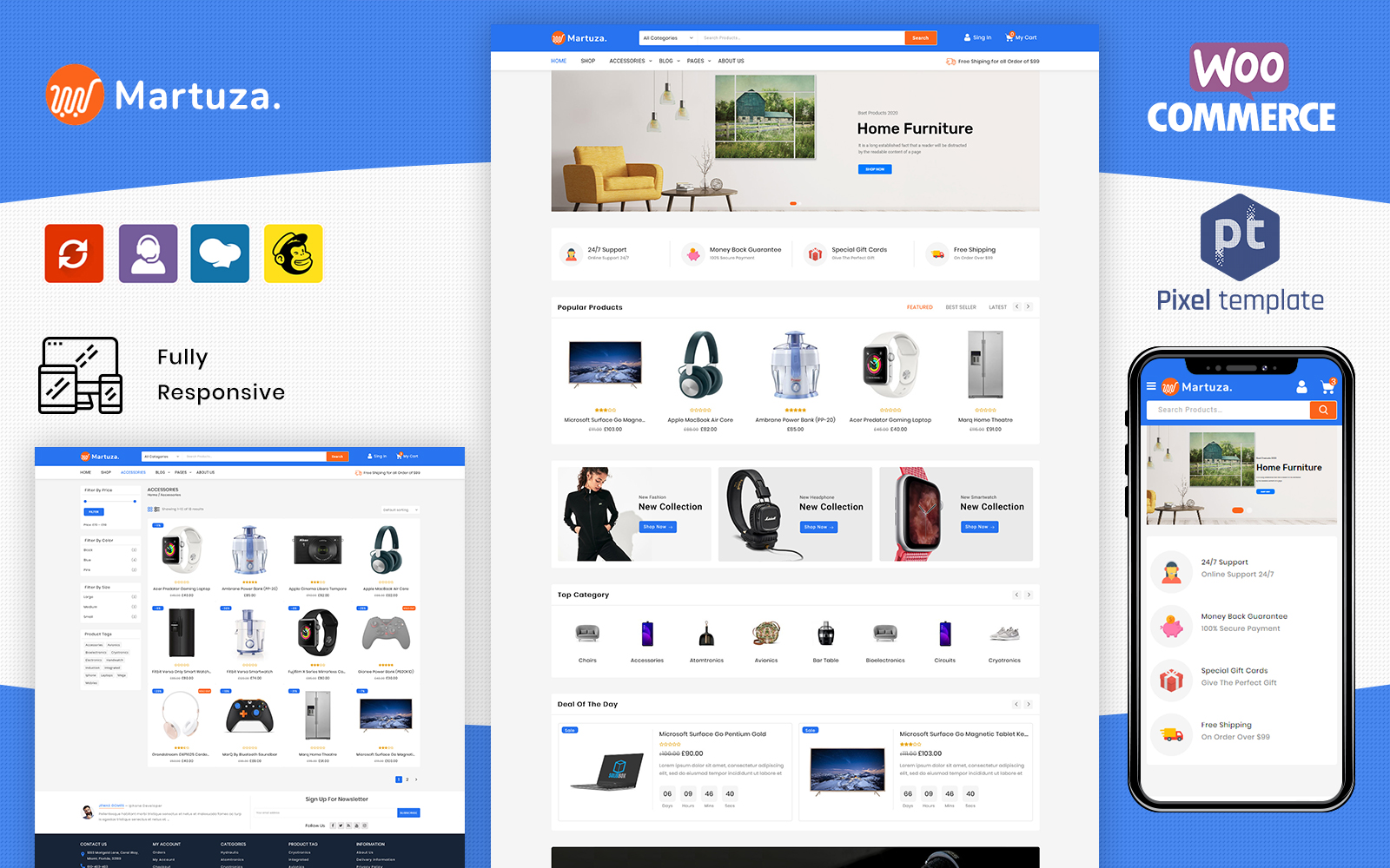 Martuza - Multipurpose Electronic Store WooCommerce Theme