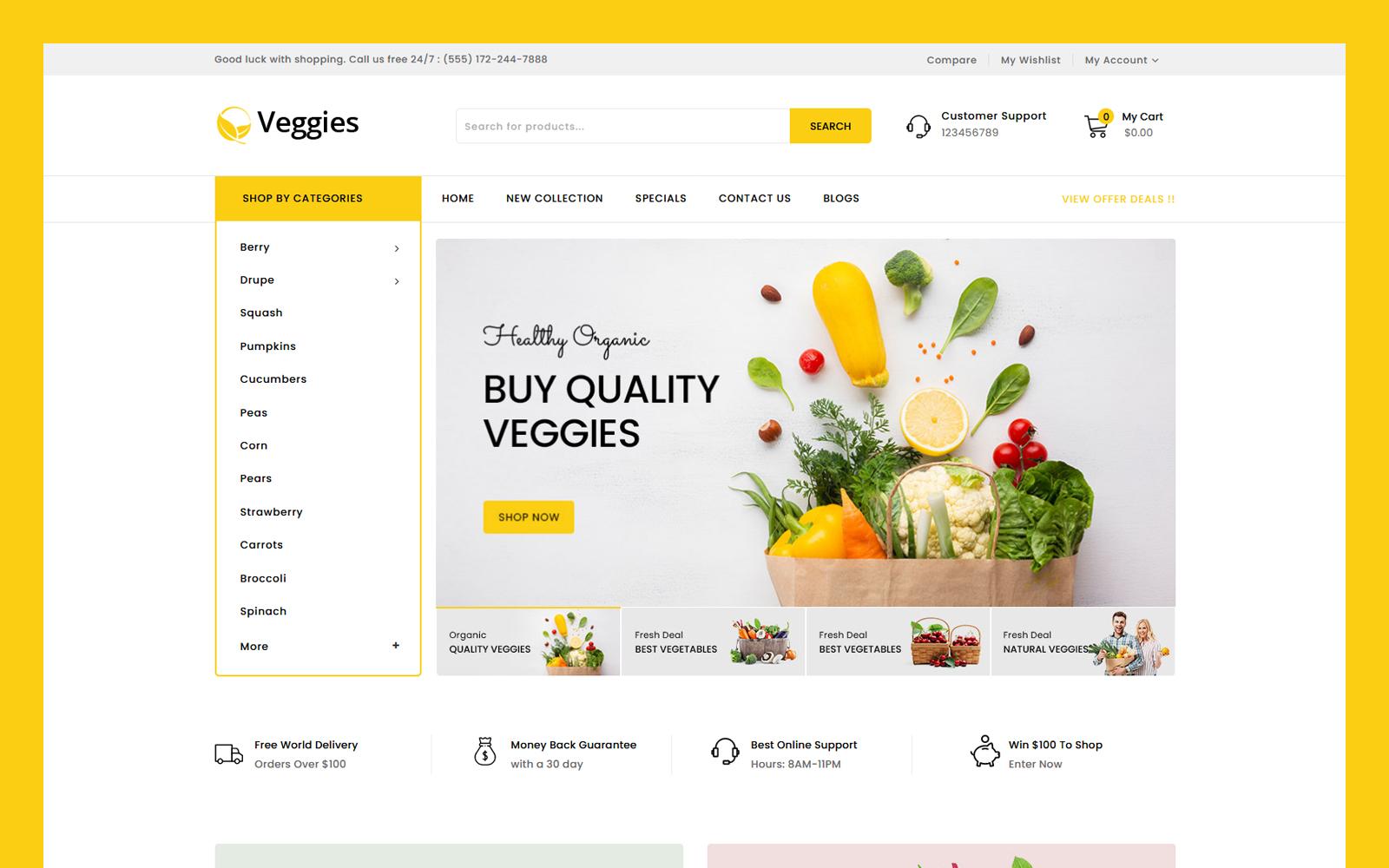 Veggies - Multipurpose OpenCart Template