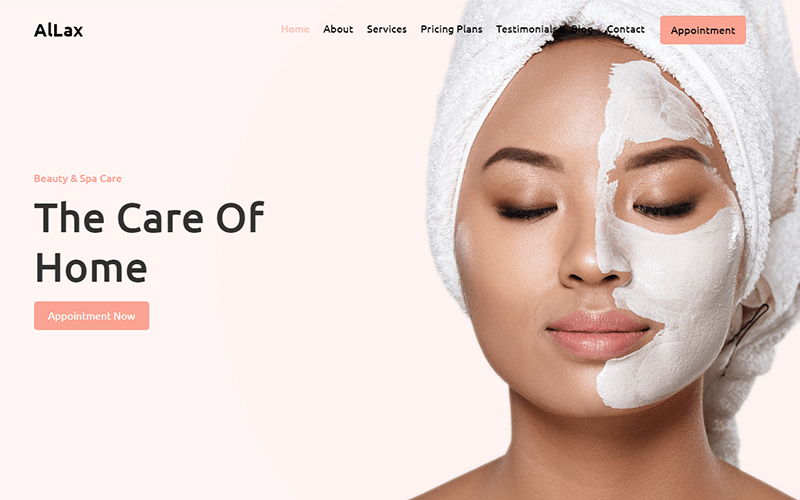 AlLax Beauty & Spa Center Landing Page Template