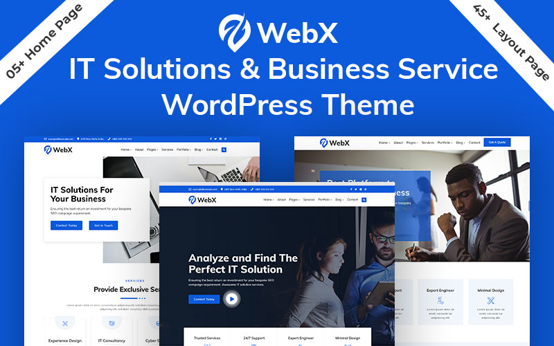 WebX - Technology & Business Solution Service WordPress Theme