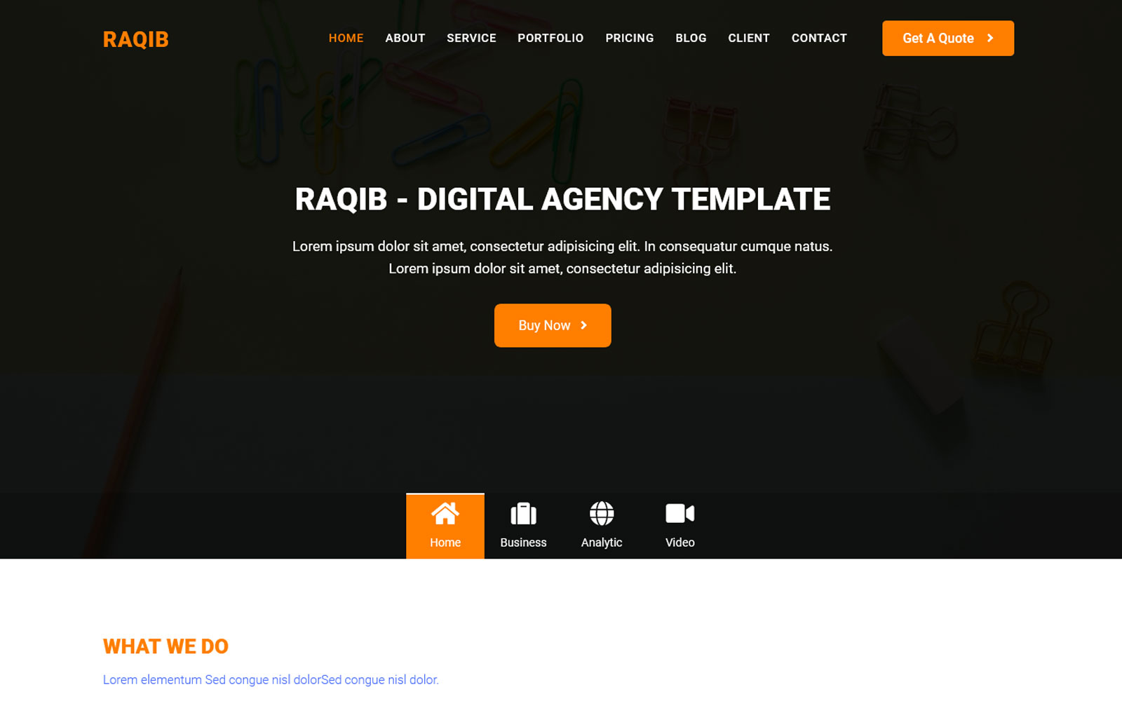 Ar-Raqib - Busniess & Consulting Agency Landing Page Template