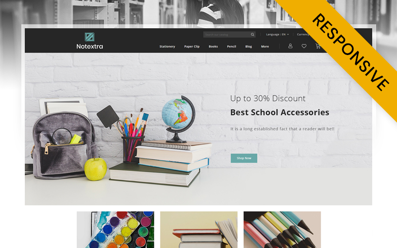Notextra - Stationery Store PrestaShop Theme