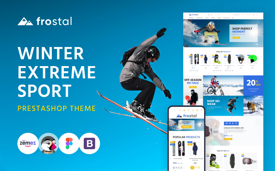 Frostal - Winter Extreme Sports eCommerce PrestaShop Theme