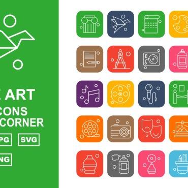 Template Artă și fotografie Seturi de iconițe #125401