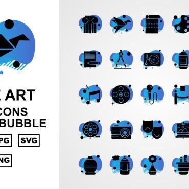 Template Artă și fotografie Seturi de iconițe #125409