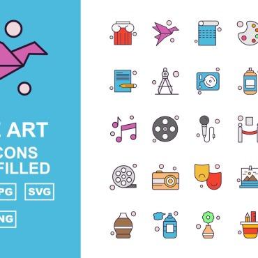 Template Artă și fotografie Seturi de iconițe #125417
