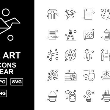 Template Artă și fotografie Seturi de iconițe #125418