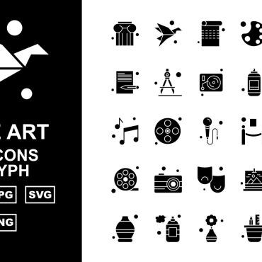 Template Artă și fotografie Seturi de iconițe #125420