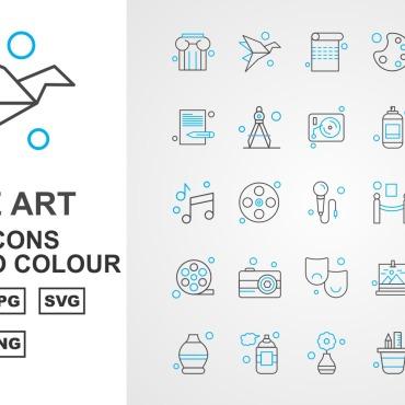 Template Artă și fotografie Seturi de iconițe #125426