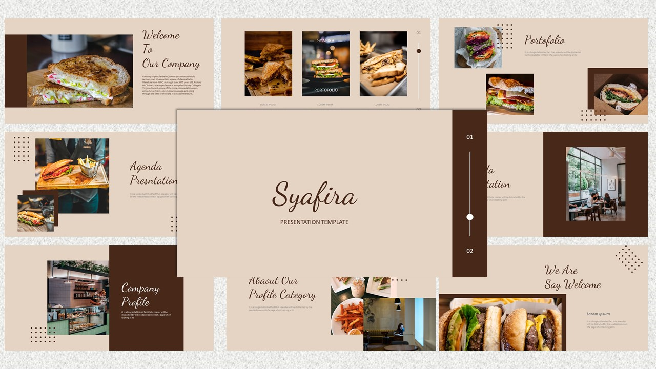 Syafira PowerPoint template