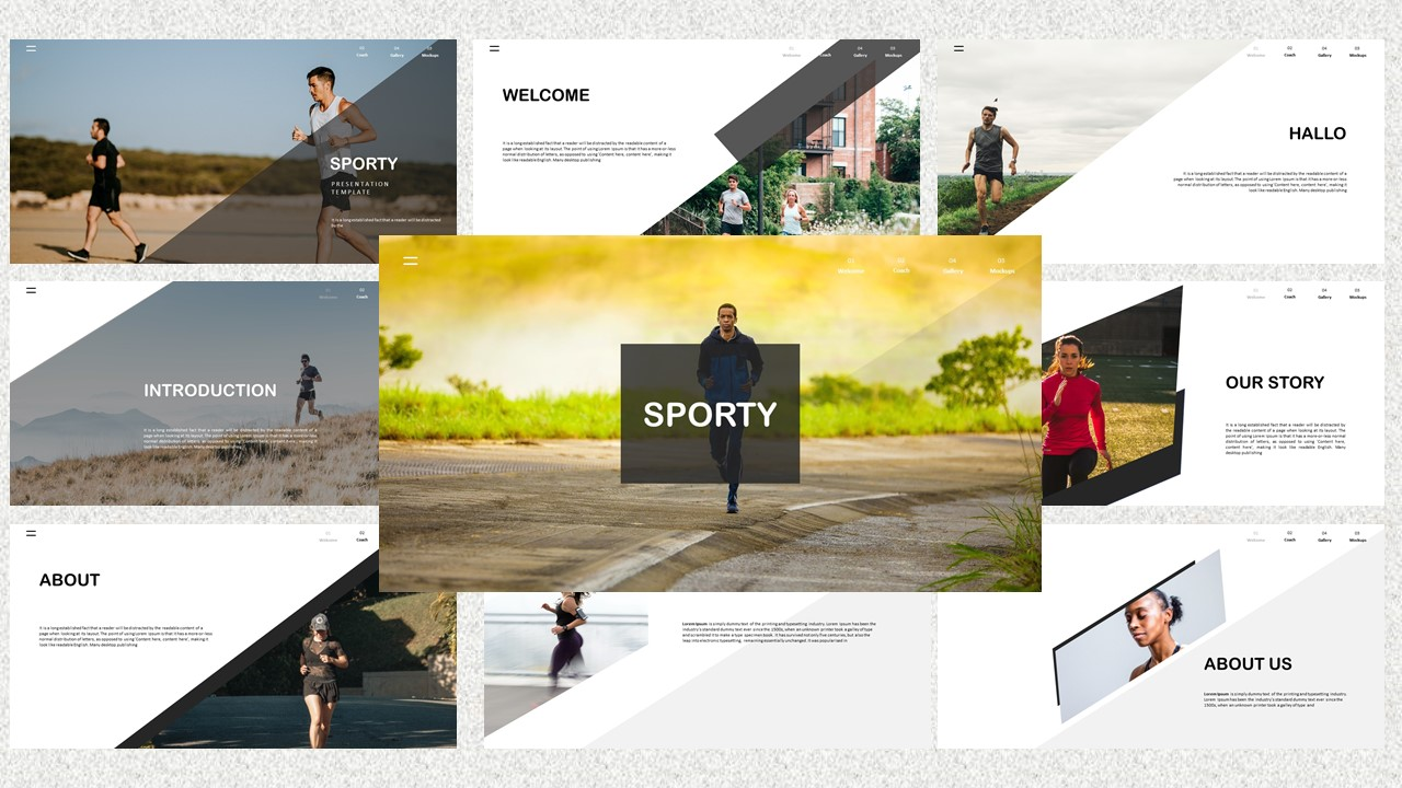 Sporty PowerPoint Template