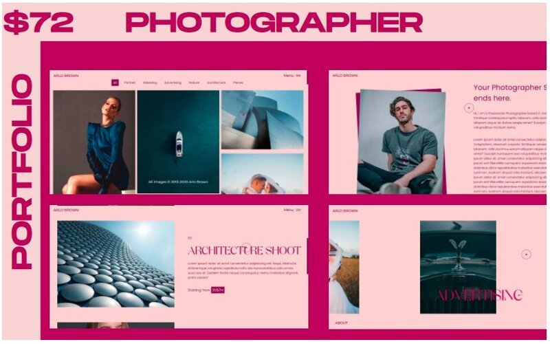WINK - Photographer Portfolio Multipurpose Website Template