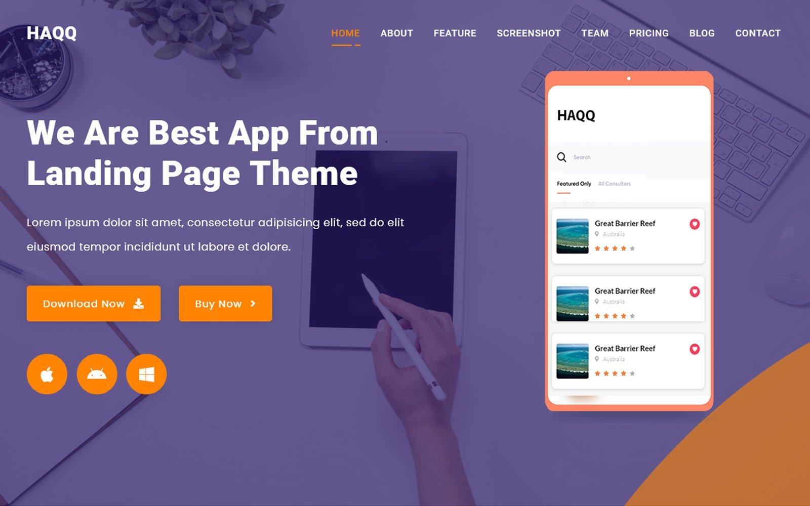 Al-Haqq - App Landing Page Template